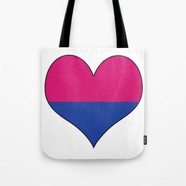 Gender Binary Heart Tote Bag