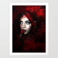 carmilla Art Prints featuring Carmilla by BabsArtCreations