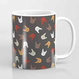 Heavy Metal Pattern | Music Fesitval Rocker Coffee Mug