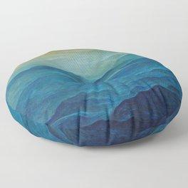 Untitled (Waves) by Zdzisław Beksiński Floor Pillow