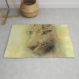 Leopard Watercolor Painting Rug