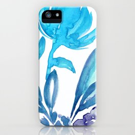 Abstract floral & square #5 iPhone Case