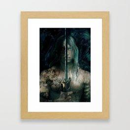 warrior inside Framed Art Print