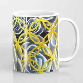 Succulent Geometric Circle Coffee Mug