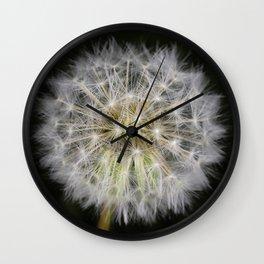 Dandelion seed ball Wall Clock