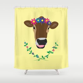 Spring Cow Shower Curtain