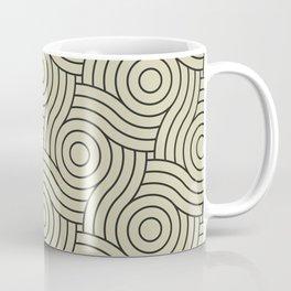Circle Swirl Pattern Valspar America Natural Olive Green - Martinique Dawn - Asian Silk Coffee Mug