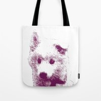 puppy Tote Bags featuring Puppy by Deliratio