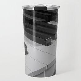 Keyboard of a black piano - 3D rendering Travel Mug