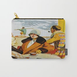 Vintage Wengen Switzerland Travel Carry-All Pouch