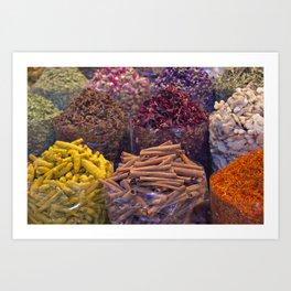 Spice Market: Gold Souk Dubai Art Print