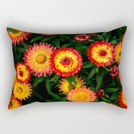 Plant Patterns - Flowery Fireworks Rectangular Pillow