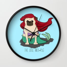 The Little Mer-Pug Wall Clock