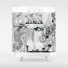 Past, Present. Future Shower Curtain