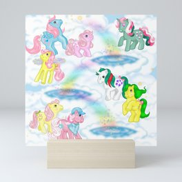 g1 my little pony collection collage Mini Art Print