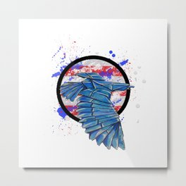 Paper USA Eagle- Wild World Of Paper Metal Print