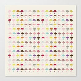 Umbrella Fashion Show Canvas Print