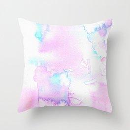 Cotton Candy Ink Blot Throw Pillow