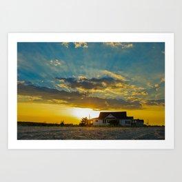 Sunset at Bowers Beach Coastal Landscape Photograph Art Print