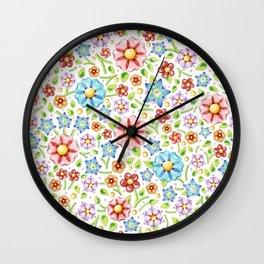 Ditsy Millefiori Pattern Wall Clock