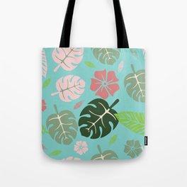 Tropical leaves Aqua paradise #homedecor #apparel #tropical Tote Bag