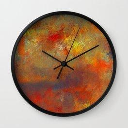 Abstract Hidden Pathways Wall Clock