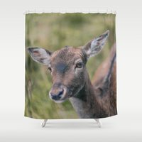 bambi Shower Curtains featuring Bambi by Kalbsroulade