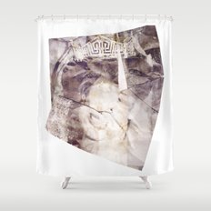 Your Time is Over Shower Curtain