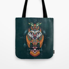 Wisdom Of The Owl King Tote Bag