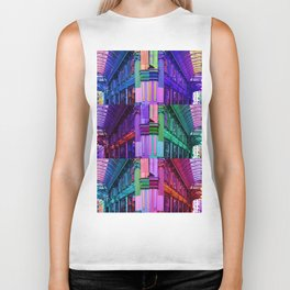 Colourful archway Biker Tank