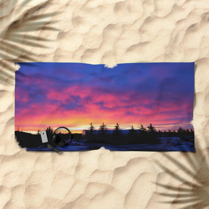 Cotton Candy Sunrise Beach Towel