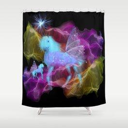 Ghostly Unicorn Shower Curtain