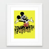 fallout 3 Framed Art Prints featuring Fallout by Iamzombieteeth Clothing