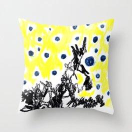 blue balloons Throw Pillow