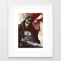 punisher Framed Art Prints featuring Punisher by Shane Cook