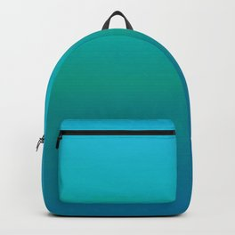 Ombre, Blue to Teal Backpack