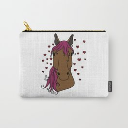 lucky horse mom Riding Horses Mother Present Gift Carry-All Pouch