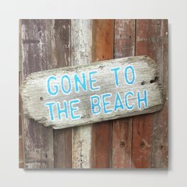 Gone To The Beach 2 Metal Print