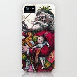 Victorian Santa Claus - Thomas Nast iPhone Case