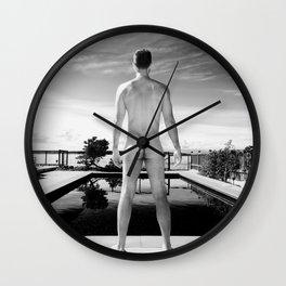 Bare Butt Black Pool Wall Clock