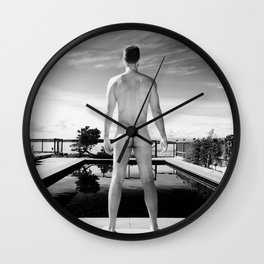 Black Pool Bare Wall Clock