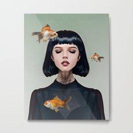 Goldfish Dreaming Metal Print