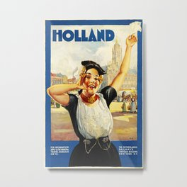 Holland 1910 Vintage Travel Poster Metal Print