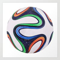 world cup Art Prints featuring World Cup 2014 by LCPCS
