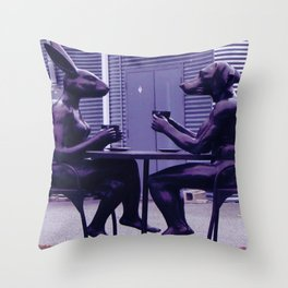 Coffee Drinkers in UV Throw Pillow