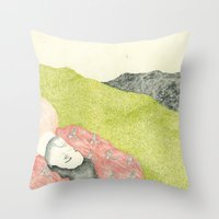hollywood Throw Pillows featuring Hollywood by Jules Magistry