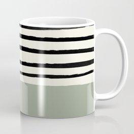 Sage Green x Stripes Coffee Mug