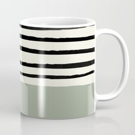Sage Green x Stripes Coffee Mug