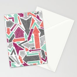 Patterned Arrows Stationery Cards