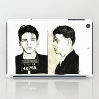 frank sinatra iPad Cases featuring Frank Sinatra Mug Shot by Lauren Randalls ART